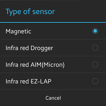2 types (magnet ·infrared) Lap sensor by Drogger (data logger)