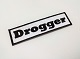 Drogger (data logger) original patch white × black single item sale